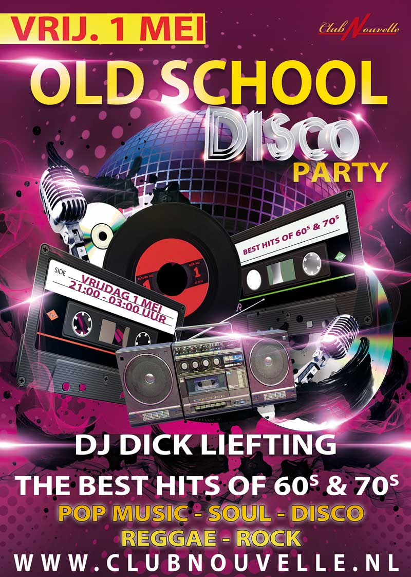 oldschool discoparty 1 mei 2020